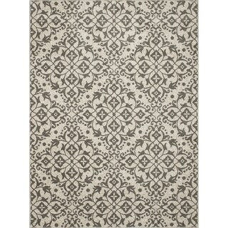 "Contempra Collection Melia Polypropylene Rug (6'7"" x 9'6"") (Option: Burgundy)"