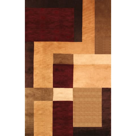 Garrison Rust/ Gold/ Brown Area Rug by Greyson Living (5'3 x 7'6) - 5' x 8'