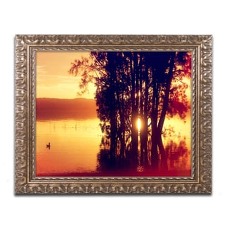 Beata Czyzowska Young 'Lonely at Sunset' Ornate Framed Art