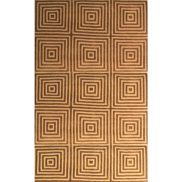 Eternity Gold/ Brown Area Rug by Greyson Living (7'9 x 10'6) - 8' x 10'
