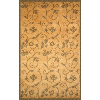 Wisteria Gold/ Sage Area Rug by Greyson Living (5'3 x 7'6)