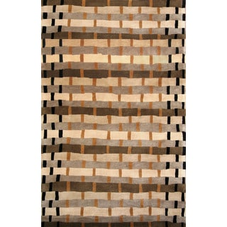 Greyson Living Milo Tan/ Brown/ Black Area Rug (7'9 x 10'6)