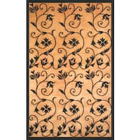 Wisteria Gold/ Black Area Rug by Greyson Living (7'9 x 10'6) - 8' x 10'
