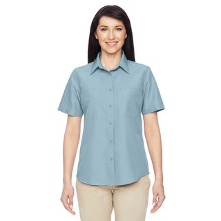 Key West Women's Cloud Blue Short-Sleeve Performance Staff Shirt