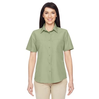 Key West Women's Green Mist Short-Sleeve Performance Staff Shirt
