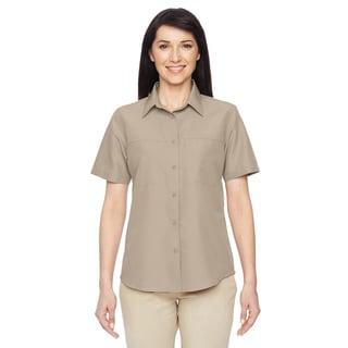 Key West Women's Khaki Short-Sleeve Performance Staff Shirt