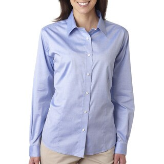 Non-Iron Women's Pinpoint Blue Shirt