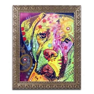 Dean Russo 'Mastiff II' Ornate Framed Art