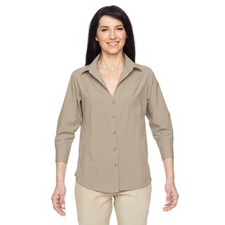 Paradise Women's Khaki Three-Quarter Sleeve Performance Shirt