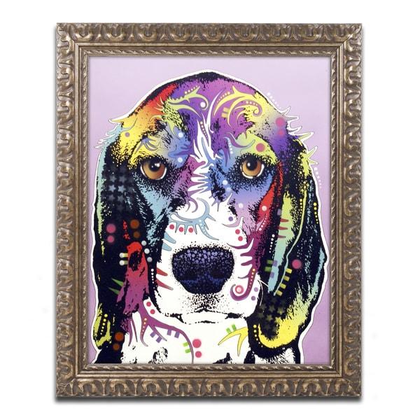 Dean Russo '4 Beagle' Ornate Framed Art