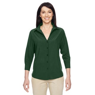 Paradise Women's Palm Green Three-Quarter Sleeve Performance Shirt