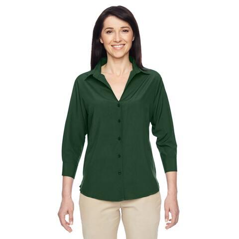 Paradise Women's Palm Green Three-Quarter Sleeve Performance Shirt