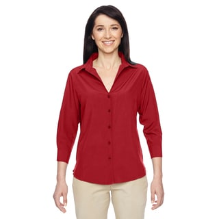 Paradise Women's Parrot Red Three-Quarter Sleeve Performance Shirt