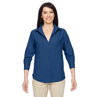 Paradise Women's Pool Blue Three-Quarter Sleeve Performance Shirt