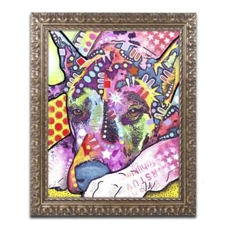 Dean Russo 'Lying Dane' Ornate Framed Art
