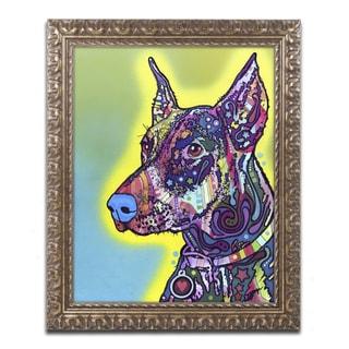 Dean Russo 'Doberman' Ornate Framed Art