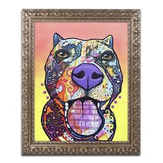 Dean Russo 'Bark Don't Bite' Ornate Framed Art