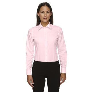 Crown Women's Collection Solid Broadcloth Pink Shirt