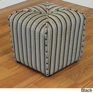 Seville Stripe Upholstered Ottoman
