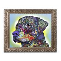 Dean Russo 'The Rottweiler' Ornate Framed Art