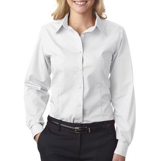 Easy-Care Women's Broadcloth White Shirt