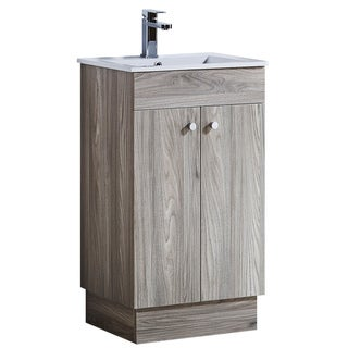 19.5-inch Bathroom Vanity with Ceramic Sink-top and Matching Medicine Cabinet