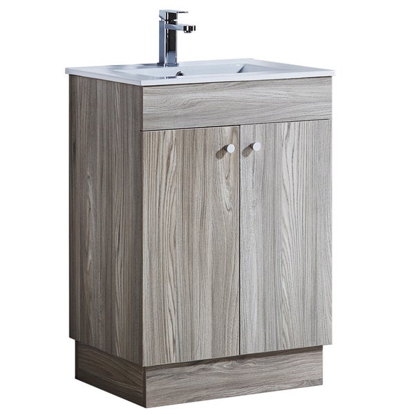 24 Bathroom Vanity With Ceramic Sink With Matching