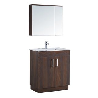 "29"" Bathroom Vanity with Ceramic Sink with matching Medicine Cabinet"