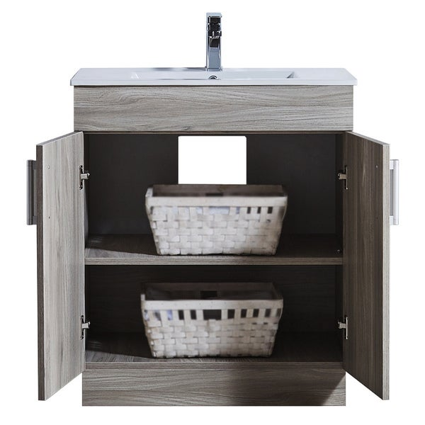 29inch bathroom vanity with ceramic sink and matching medicine cabinet free shipping today