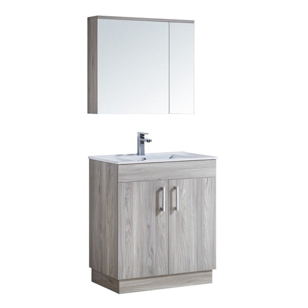 Ordinaire 29 Inch Bathroom Vanity With Ceramic Sink And Matching Medicine Cabinet