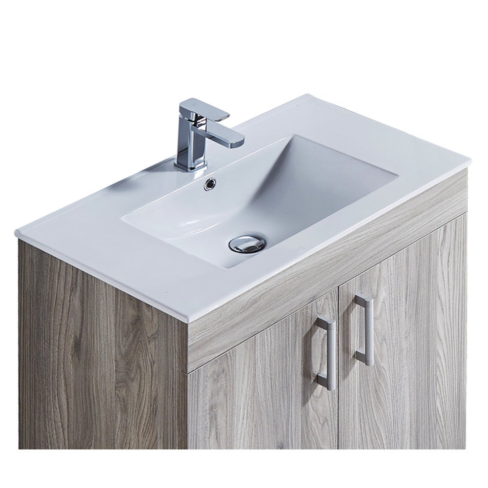 29 Inch Bathroom Vanity With Ceramic Sink And Matching Medicine Cabinet Overstock 12301340