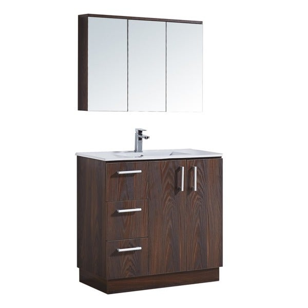 Magnificent Shop 35 Bathroom Vanity With Ceramic Sink Ships To Canada Home Interior And Landscaping Fragforummapetitesourisinfo