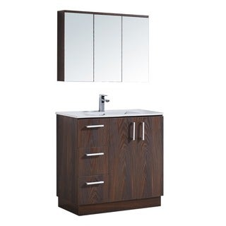 "35"" Bathroom Vanity with Ceramic Sink"