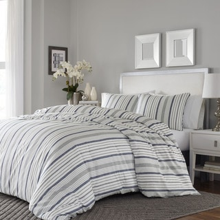 Link to Porch & Den Claude 3-piece Cotton Sateen Duvet Cover Set Similar Items in Duvet Covers & Sets