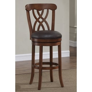 Greyson Living Lelia Brown Swivel Counter Stool