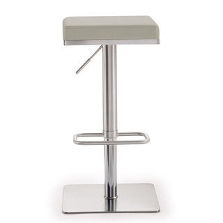 Bari Light Grey Stainless Steel Barstool