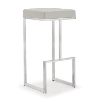 Ferrara Set of 2 Light Grey Steel Bar Stools
