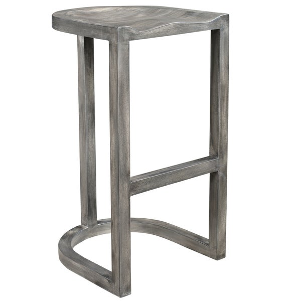 Shop Laredo Grey Solid Mango Wood 30 Inch Counter Stool 165l X