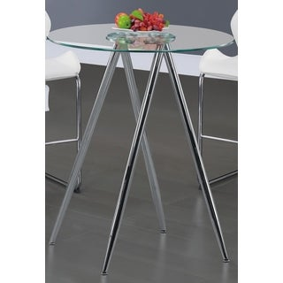 Global Furniture Chrome Round Bar Table