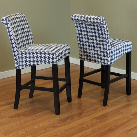 Milan Houndstooth Counter Chairs (Set of 2)