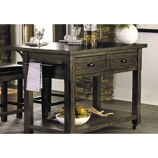 Progresive Brown Wood Kitchen Island