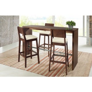 Distressed Walnut 3-Piece Pub Set