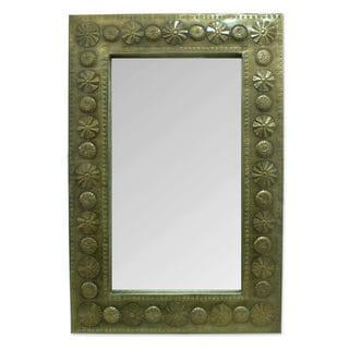 Handcrafted Tin 'Seashells' Mirror (Mexico)