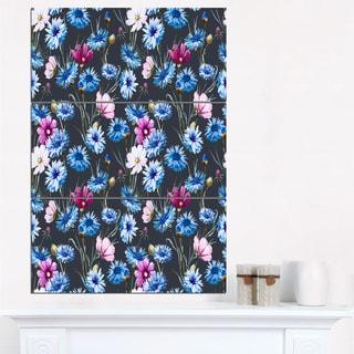 Multi-Color Corn Flowers - Floral Canvas Art Print