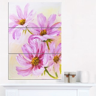 Blooming Pink Cosmos Flowers - Floral Canvas Art Print