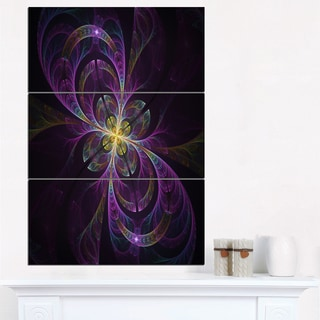 Purple Abstract Floral Shapes - Large Floral Wall Art Canvas
