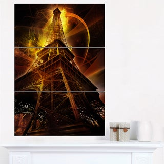 Paris Eiffel Tower on Fantasy Background - Cityscape Canvas print