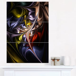 Multicolored Stained Floral Shapes - Large Floral Wall Art Canvas