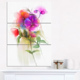 Bunch of Colorful Orchid Flowers - Large Flower Canvas Wall Art