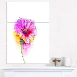 Purple Yellow Gerbera Flower - Large Flower Canvas Wall Art